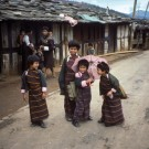 Bhutan children at Wangdiphodrang [Print #0130]
