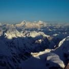 Makalu, Lhotse & Everest from Kangchenjunga [Print #0350]