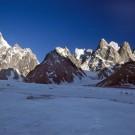 Latok Peaks above Choktoi Glacier, Ogre on the left, Pakistan [Print #0415]